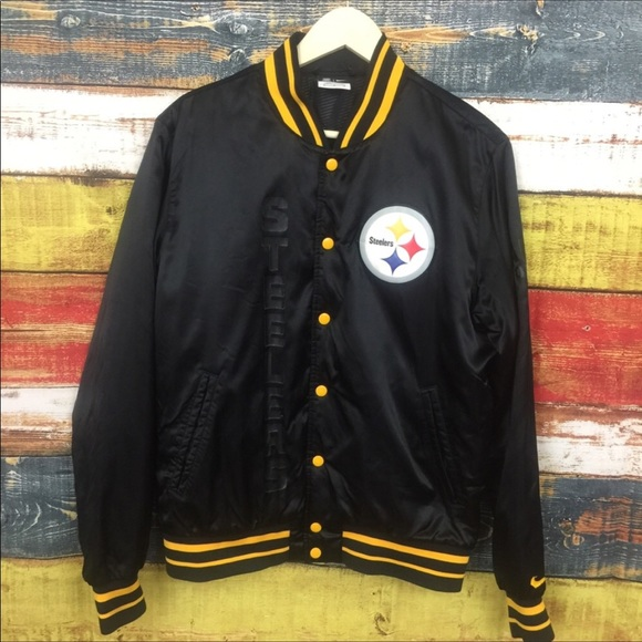 best website f626a d298b Steelers Varsity Jacket By Nike Size M